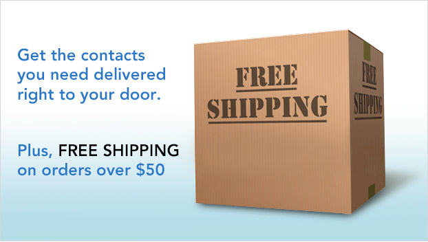 Free Shipping on Contact Lens Orders over $50